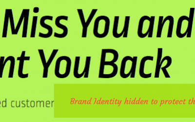 Baby Come Back! | Keeping Existing Customers