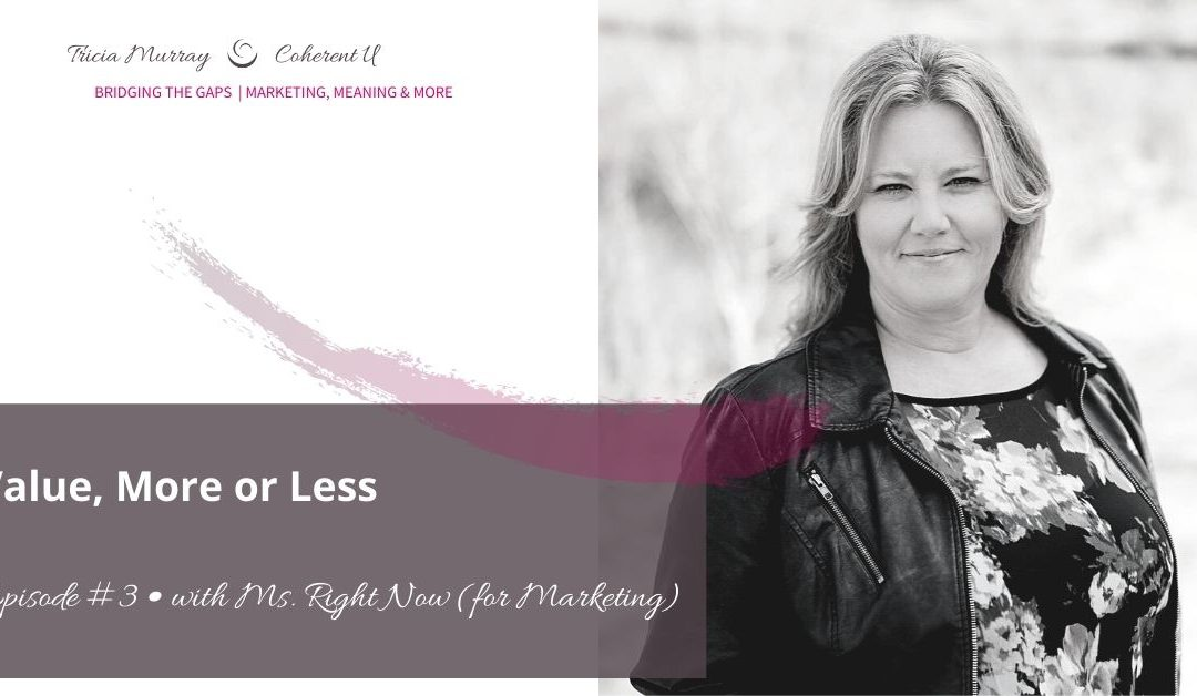 Tricia Murray | Coherent U | Value, More or Less