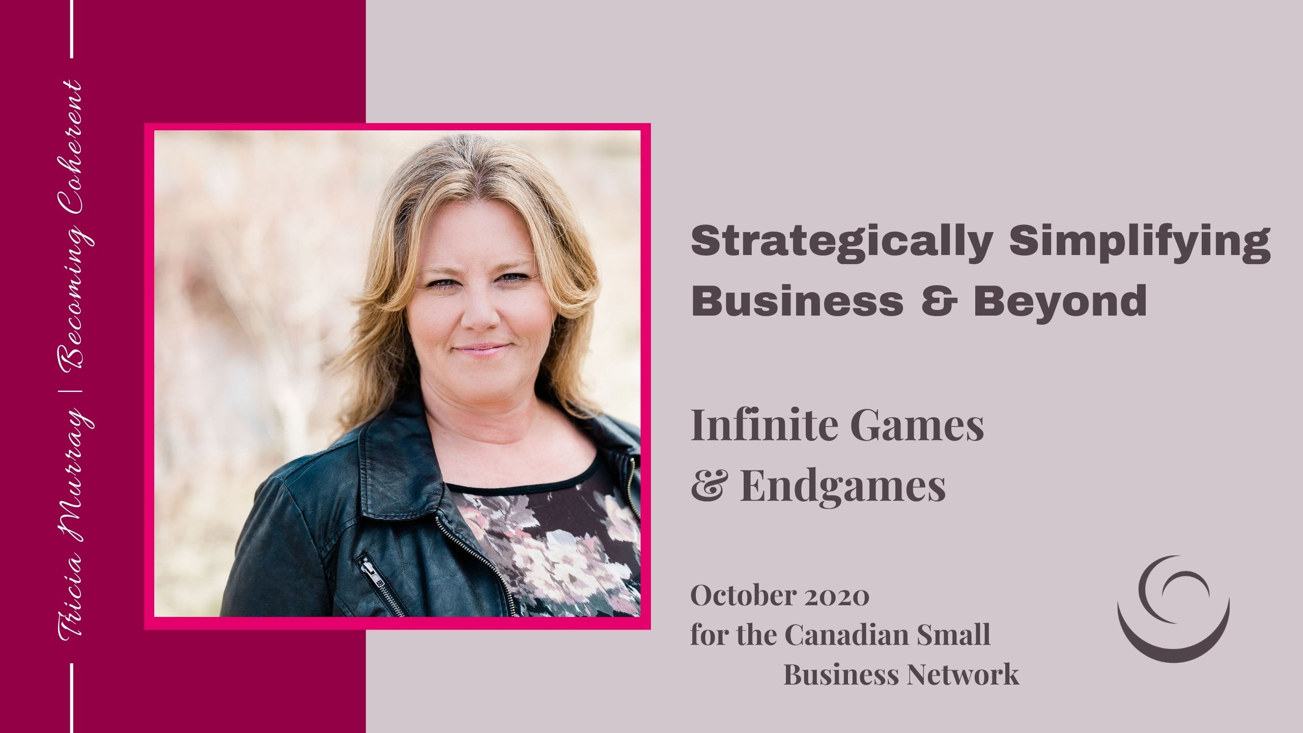 Canadian Small Business Women | Tricia Murray | October 2020 | Infinite Games