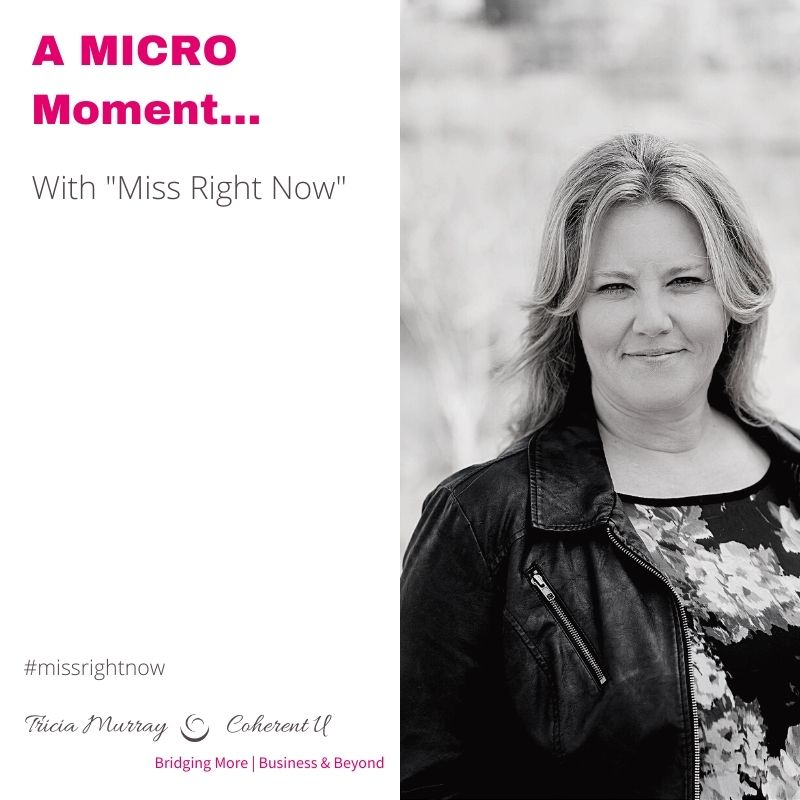 a MICRO MOMENT | WITH MISS RIGHT NOW