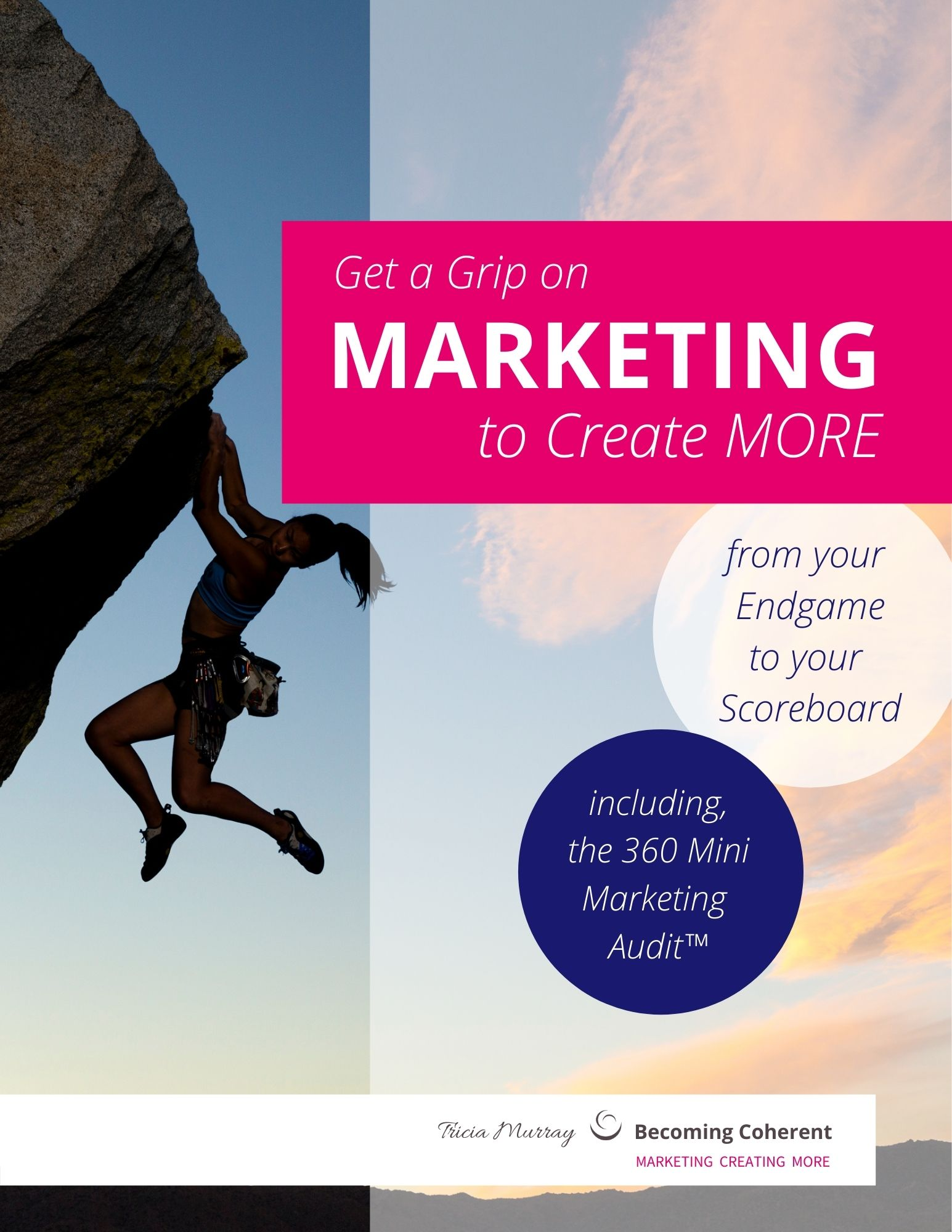 Get a Grip on Marketing to Create More | 360 Mini Marketing Audit | Tricia Murray, Becoming Coherent