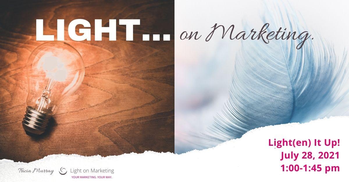 Shine a Light Webinar! | Tricia Murray, Light on Marketing